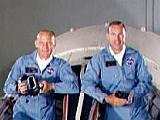 Posádka Gemini 12 (zleva Aldrin a Lovell)