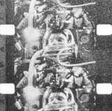 Kosmonaut během letu v kabině kosmické lodi Mercury