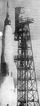Start nosné rakety Atlas 130 D s kosmickou kabinou Mercury
