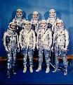 Sedm kosmonautů, vybraných pro Mercury