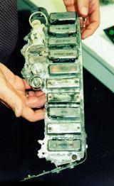 Pohled na část kontrolek z palubní desky