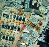 Pohled na spínače na palubní desce