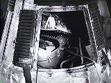 Kontejner se šimpanzem Hamem v kabině Mercury