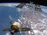 Kosmická loď Orion u ISS