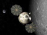 Orion u Měsíce (kresba)