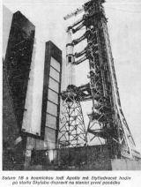 Saturn 1B s kosmickou lodí Apollo má čtyřiadvacet hodin po startu Skylabu dopravit na stanici první posádku