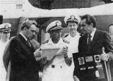 Setkání kosmonautů z první posádky Skylabu s prezidenty USA a SSSR