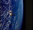 Skylab při odletu první posádky (22.06.1973)