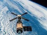 Skylab při odletu poslední posádky (08.02.1974)
