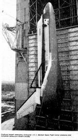 Družicový stupeň Enterprise v GSFC (Alabama) před kompletací sestavy pro vibrační zkoušky