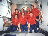 Kompletní posádka STS-101 v ISS na oběžné dráze (26.05.2000)