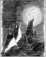 Kresba Petra Ginze, která byla v kosmu