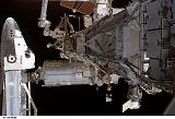 Pohled na ISS s připojeným raketoplánem Atlantis STS-115 (12.09.2006)