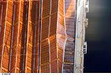 Zablokovaná část solárního panelu na ITS-P6 (13.12.2006)