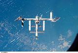 Stanice ISS při odletu raketoplánu Atlantis STS-117 (19.06.2007)