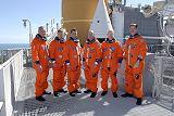 Posádka STS-117 při TCDT (23.02.2007)