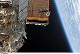 Záběr z výstupu do kosmu EVA-1 (11.08.2007)