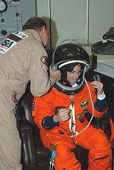 Barbara Morgan[ová] při TCDT (19.07.2007)