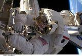 Acaba při výstupu EVA-3 (23.03.2009)