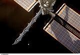 Tani při výstupu EVA-2 (28.10.2007)