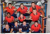 Posádky Expedice 16 a STS-120 v modulu Harmony na ISS (27.10.2007)