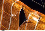 Detail poškození na solárním panelu P6-4B (01.11.2007)