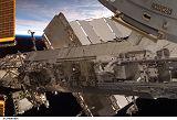 Walheim při výstupu EVA-1 (11.02.2008)
