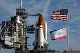 Raketoplán Endeavour STS-123 na rampě LC-39A (10.03.2008)