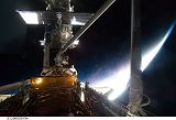 Massimino a Good při výstupu EVA-4 (17.05.2009)