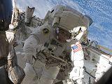 Kopra při výstupu EVA-1 (18.07.2009)