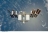 Stanice ISS při odletu raketoplánu Endeavour STS-127 (28.7.2009)