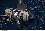 Raketoplán Discovery STS-128 při příletu ke stanici ISS (31.08.2009)