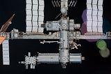 Stanice ISS při odletu raketoplánu Endeavour STS-130 (20.02.2010)