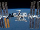 Stanice ISS při odletu raketoplánu Endeavour STS-134 (30.05.2011)