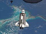 Přílet raketoplánu Atlantis STS-135 s MPLM modulem Raffaello k ISS (10.07.2011)