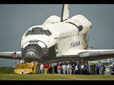Raketoplán Atlantis STS-135 po přistání na KSC (21.07.2011)