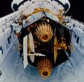 Sestava TDRS/IUS v nákladovém prostoru Discovery (13.03.1989)