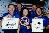 Společná fotografie posádky na oběžné dráze (11.04.1991)