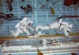Ross a Apt při nácviku EVA v bazénu v JSC (06.12.1989)