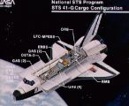 Konfigurace nákladového prostoru Challengeru STS-41G