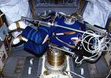 Hilmers v IML-1 při experimentu MVI (24.01.1992)