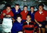 Společná fotografie posádky na oběžné dráze (01.04.1992)