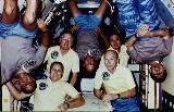 Posádka STS-51B na oběžné dráze