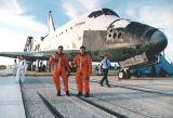Posádka Columbie STS-65 po přistání na KSC (23.07.1994)