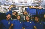 Společná fotografie posádky na oběžné dráze (11.11.1994)