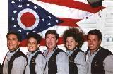 Kompletní posádka STS-70 na oběžné dráze