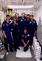 Posádka STS-83 při TCDT