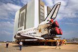 Přesun Discovery z OPF-2 do VAB (27.04.1998)