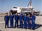 Posádka Discovery STS-92 po přistání na Edwards AFB (24.10.2000)