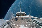 Nákladový prostor Discovery STS-95 krátce po otevření (29.10.1998)
